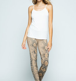 Vocal 6106 Snake Print Leggings Tan