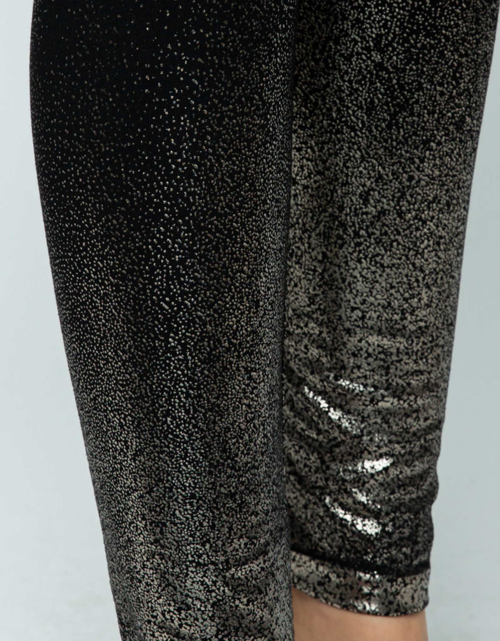 Vocal Metallic Foil Leggings