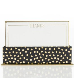 Graphique Gold Foil Dot Thank You Notes