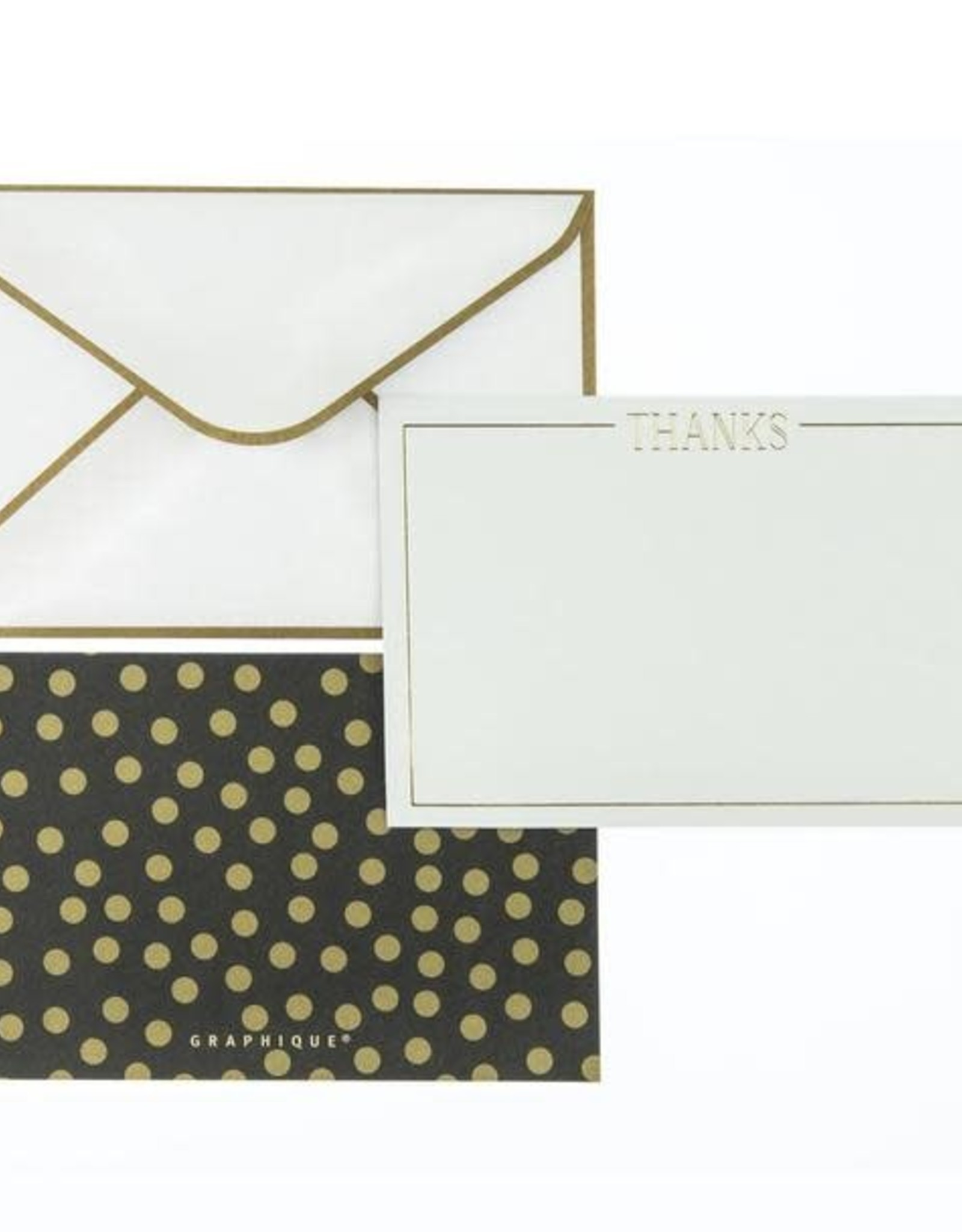 Gold Foil Dot Thank You Notes