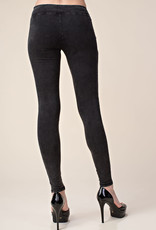 Vocal 6153 Distressed Charcoal Moto Leggings