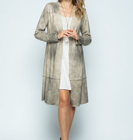 Vocal 6075 Sand Suede Blanket Stitch Jkt