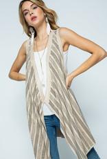 6074 Natural Suede Stone Embellished Vest