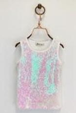 Doe a Dear Iridescent Sequin Tank Top