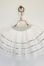 Doe a Dear Silver Sequin Tulle Skirt