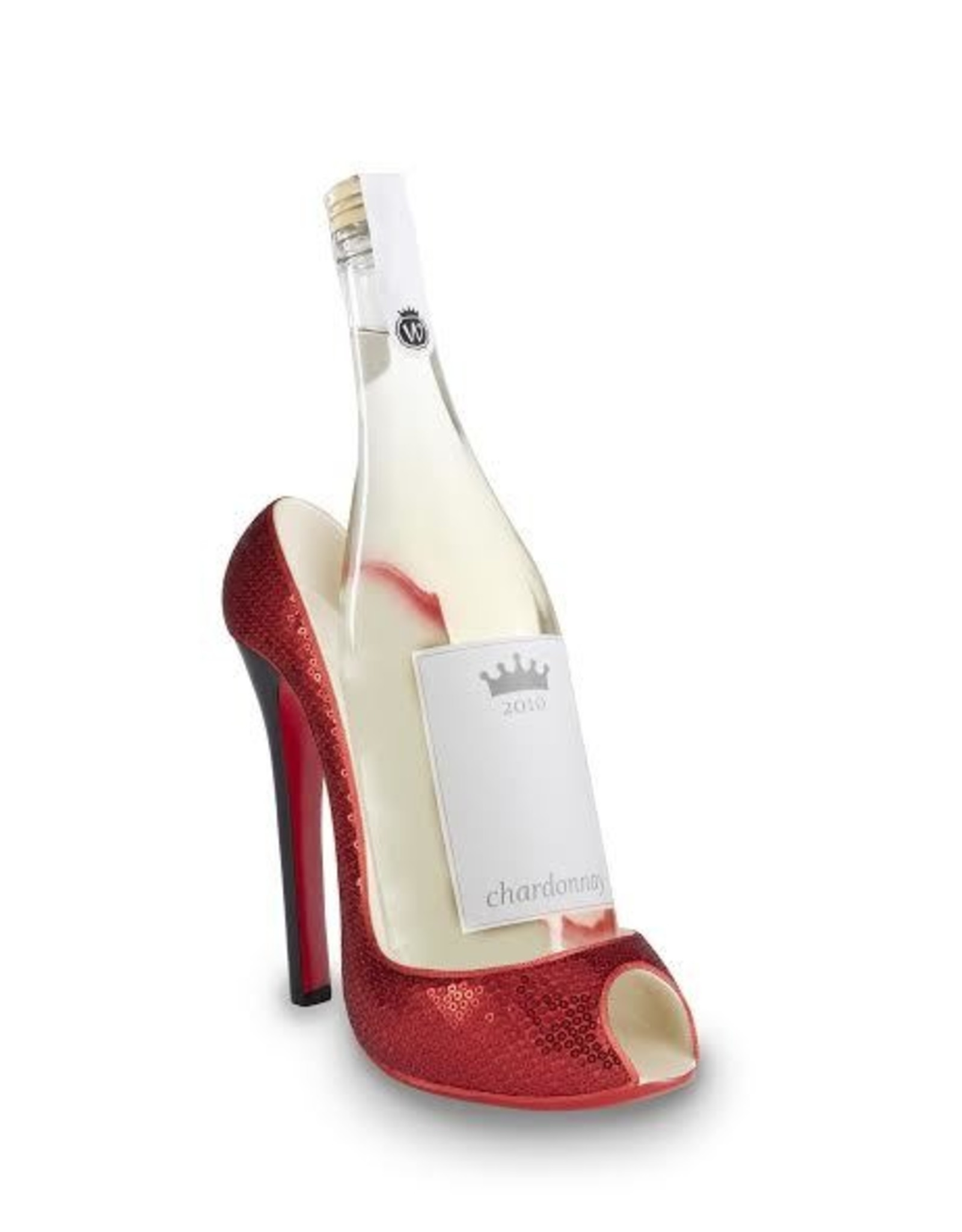 Wild Eye Stiletto Wine Holder - Red Glitter