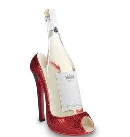 Wild Eye Stiletto Wine Holder - Red Glitter
