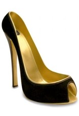 Wild Eye Stiletto Wine Holder - Bk Velvet/Gold