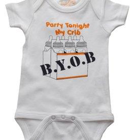 Onesie BYOB 12-18 Months Wht