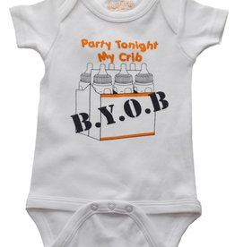 Onesie BYOB 6-12 Months Wht