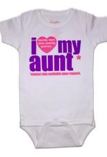 Onesie Love Aunt PinkPurple 6-12 Months Wht