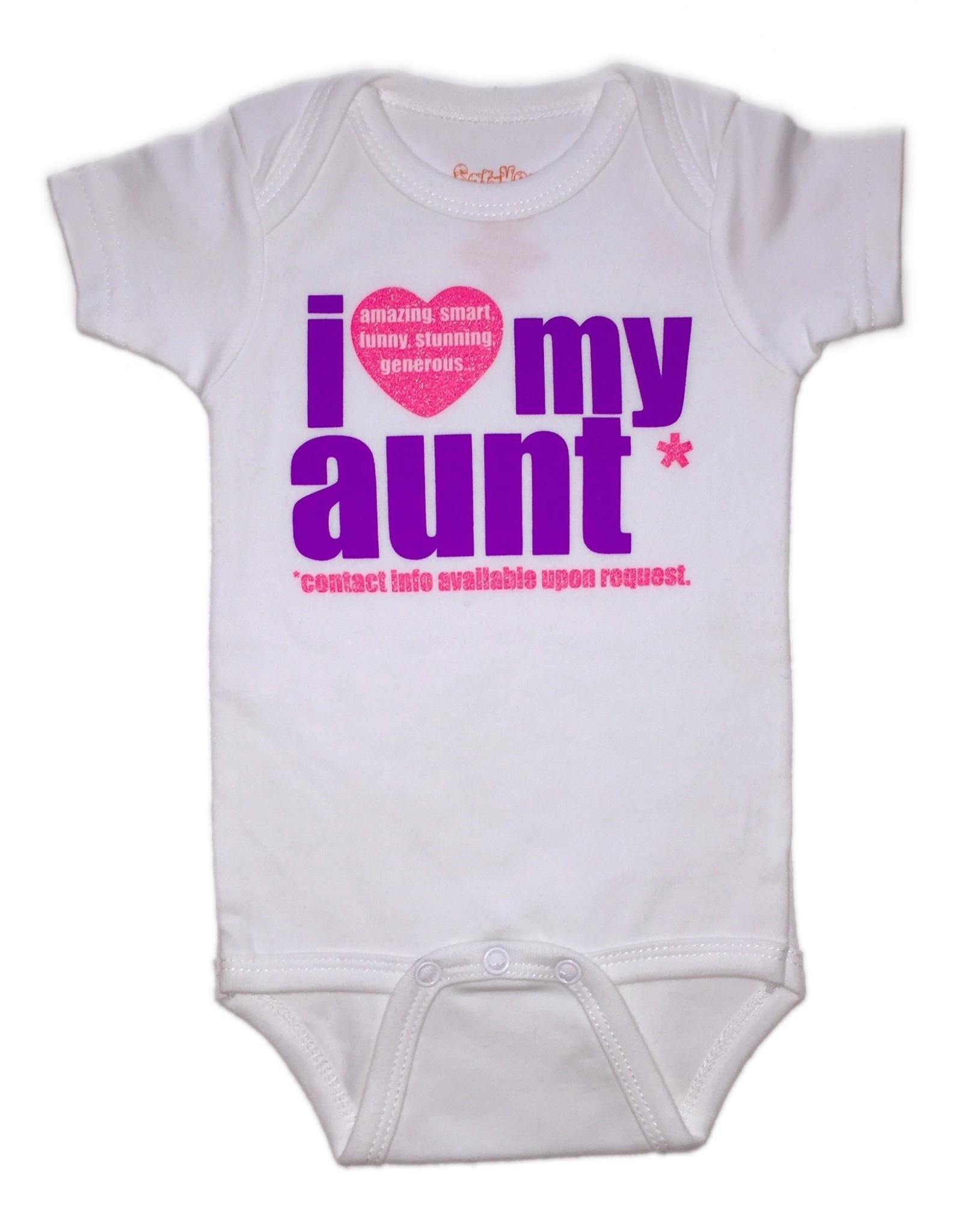 Sara Kety Onesie Love Aunt PinkPurple 6-12 Months Wht