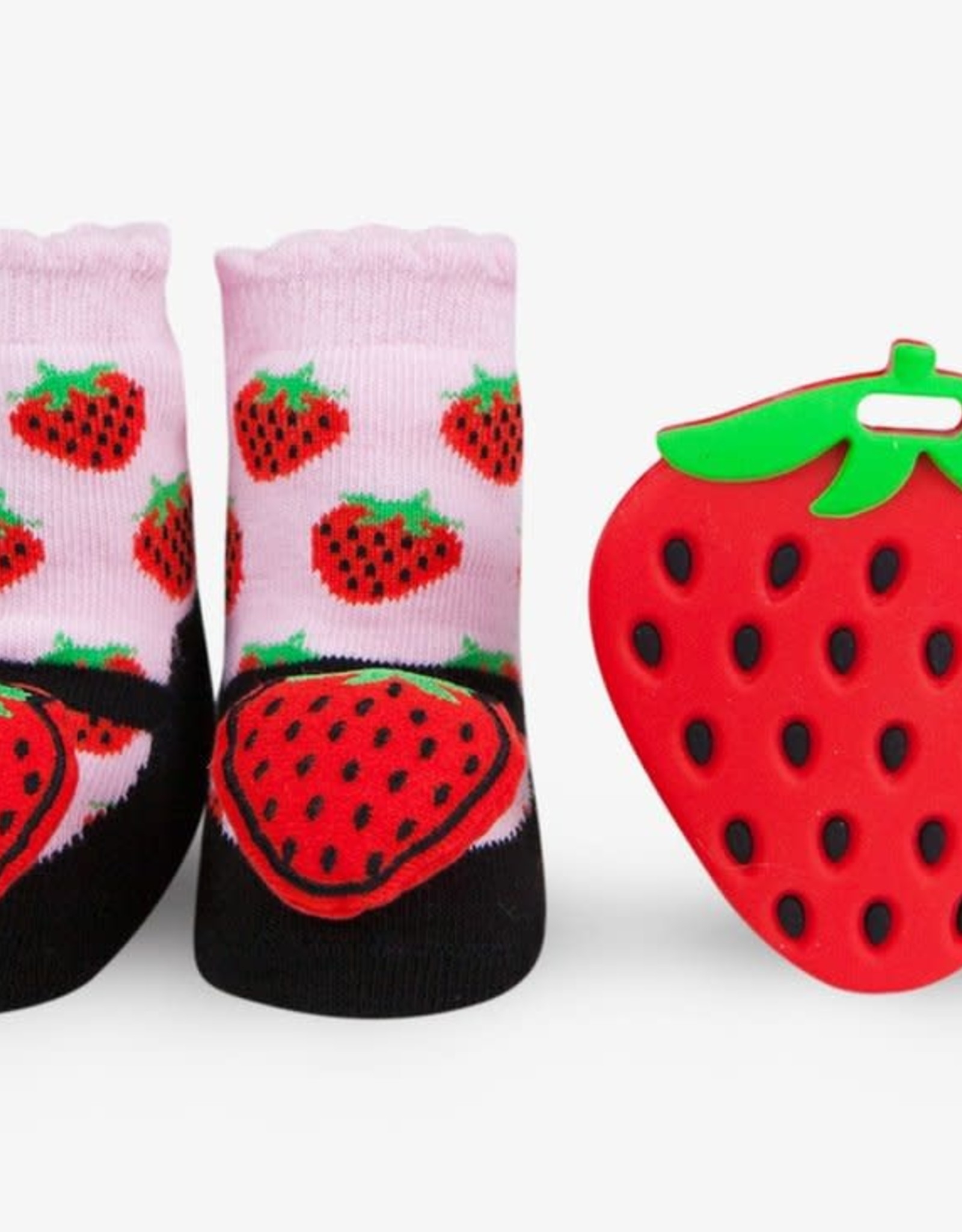Waddle Strawberry Teether Gift Set