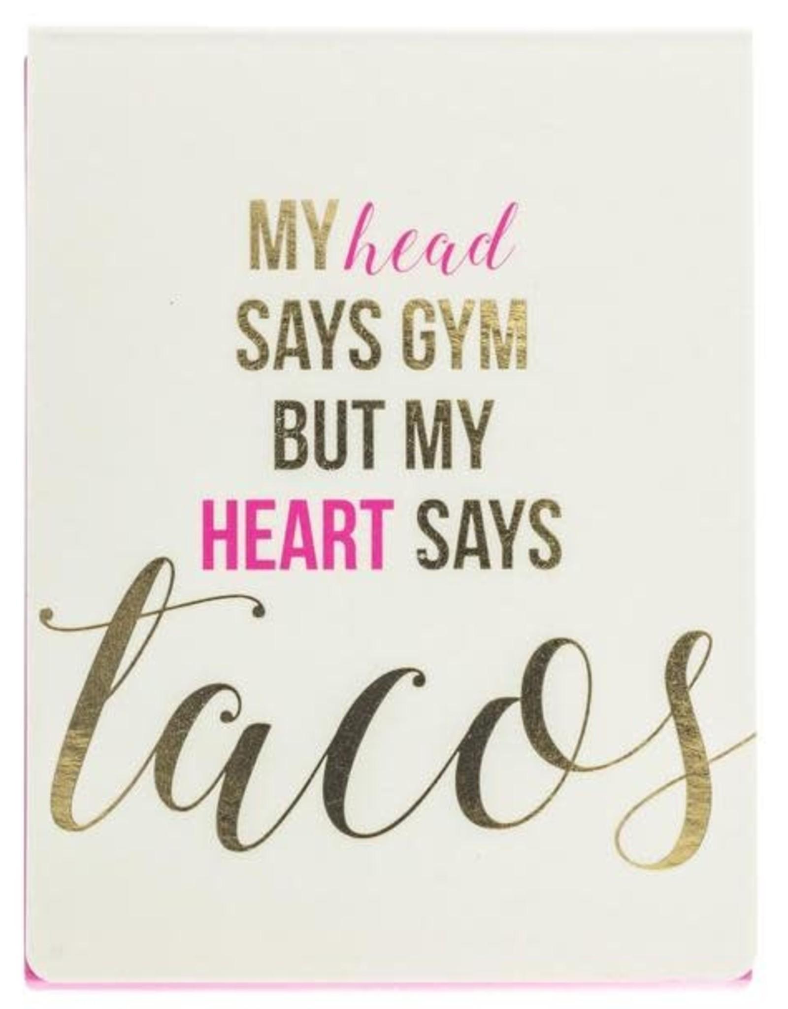 My Heart Says Tacos Mini Pad