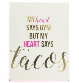 My Heart Says Tacos Mini Pad