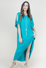Cold Shoulder Hi Low Teal
