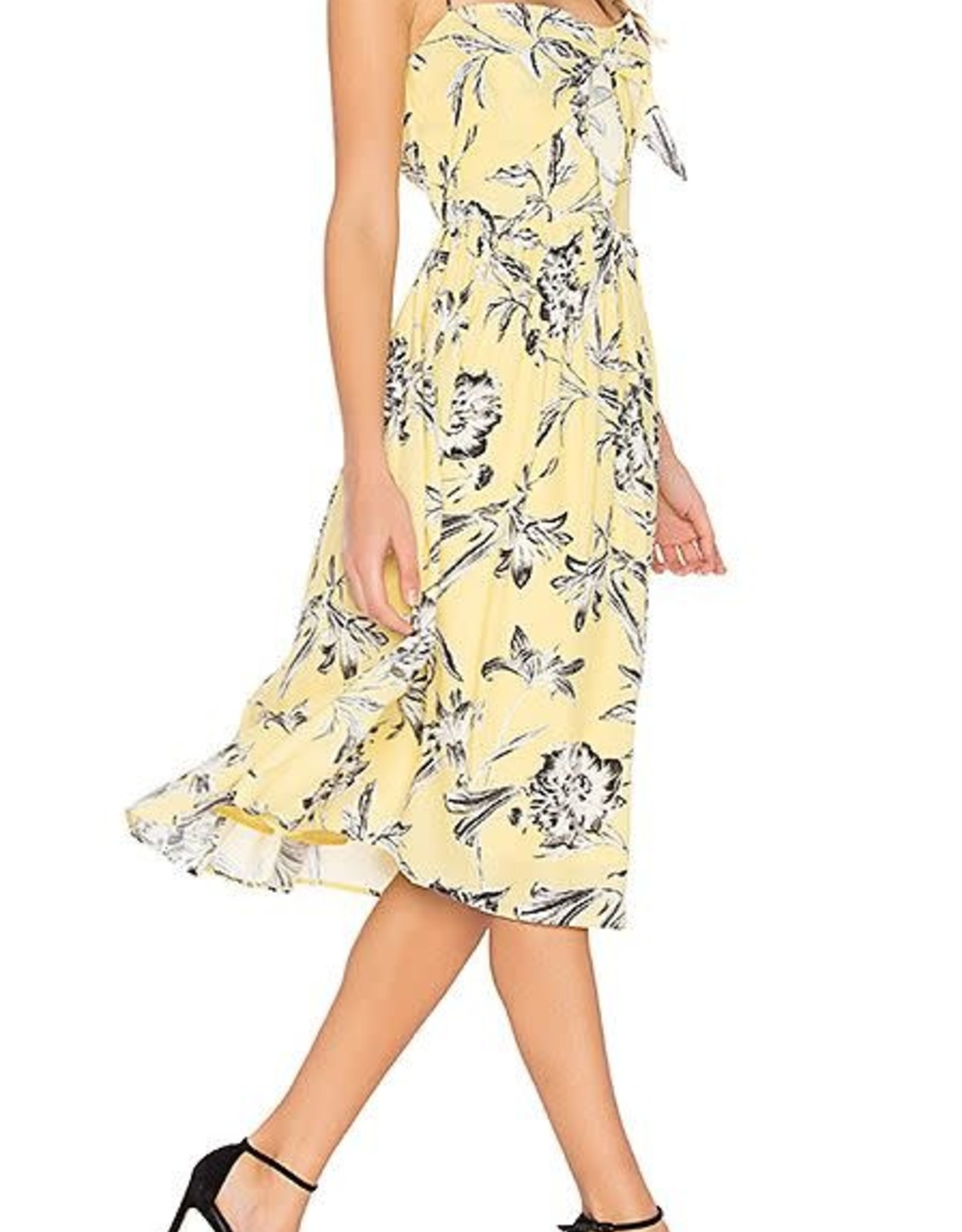 BB Dakota Yellow Floral Dress