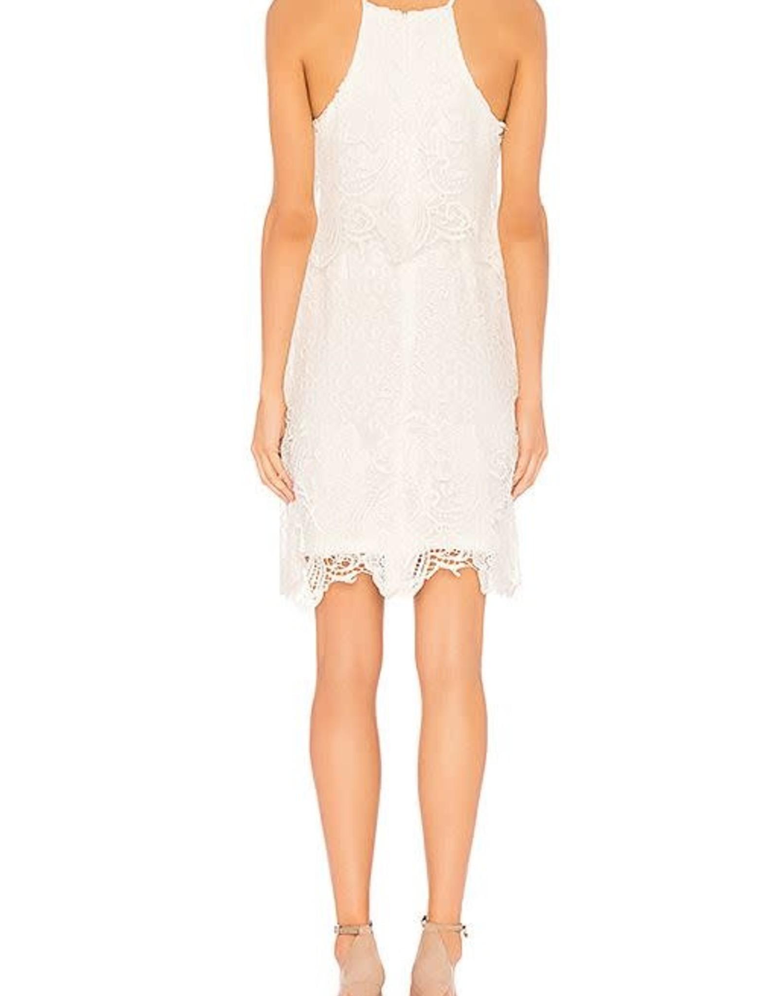White Bodycon Lace Dress