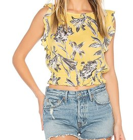 BB Dakota Yellow Floral Top