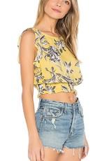 BB Dakota Yellow Floral Top