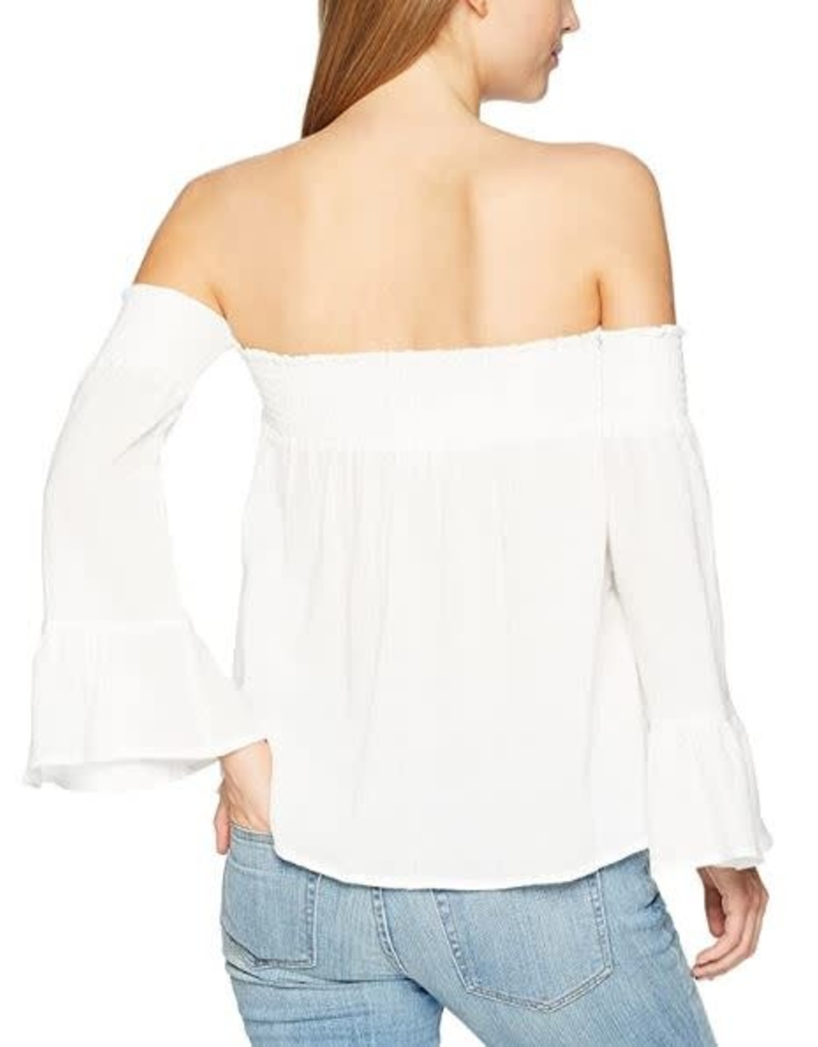 Jack Off Shoulder Gauze Top