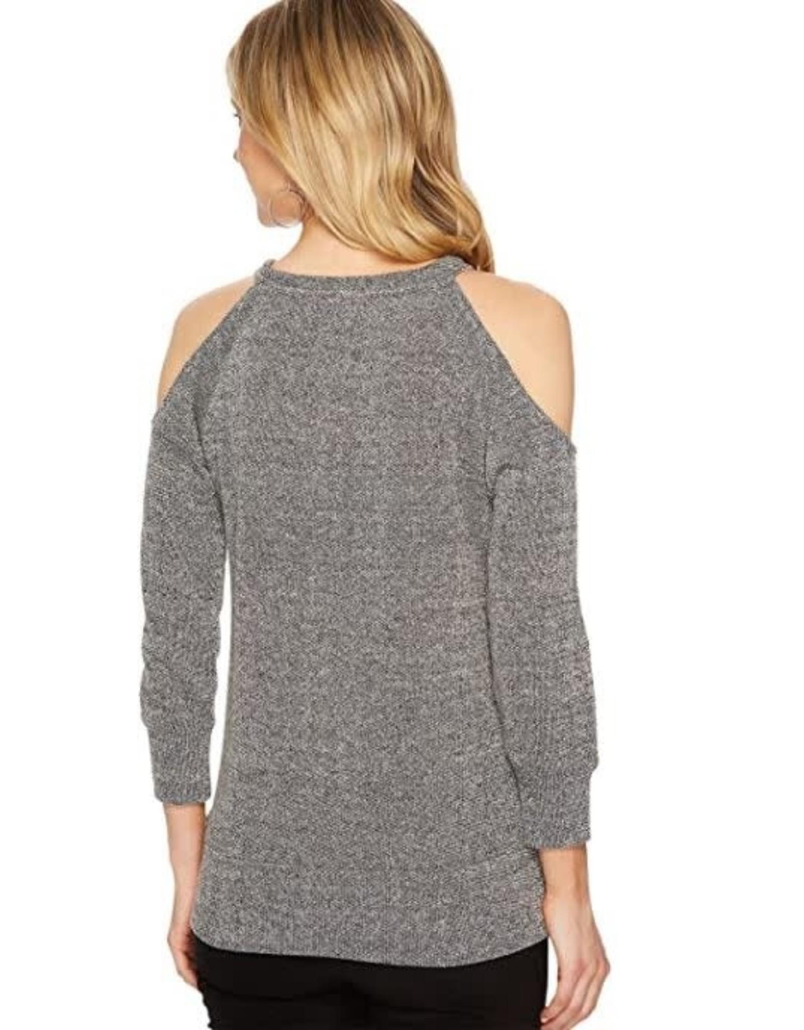BB Dakota Silver Cold Shoulder Sweater