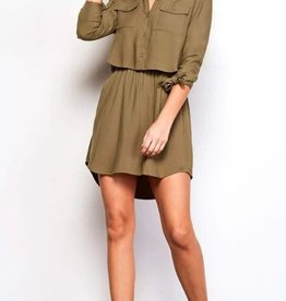 Jack Olive Tie Sleeve Dress