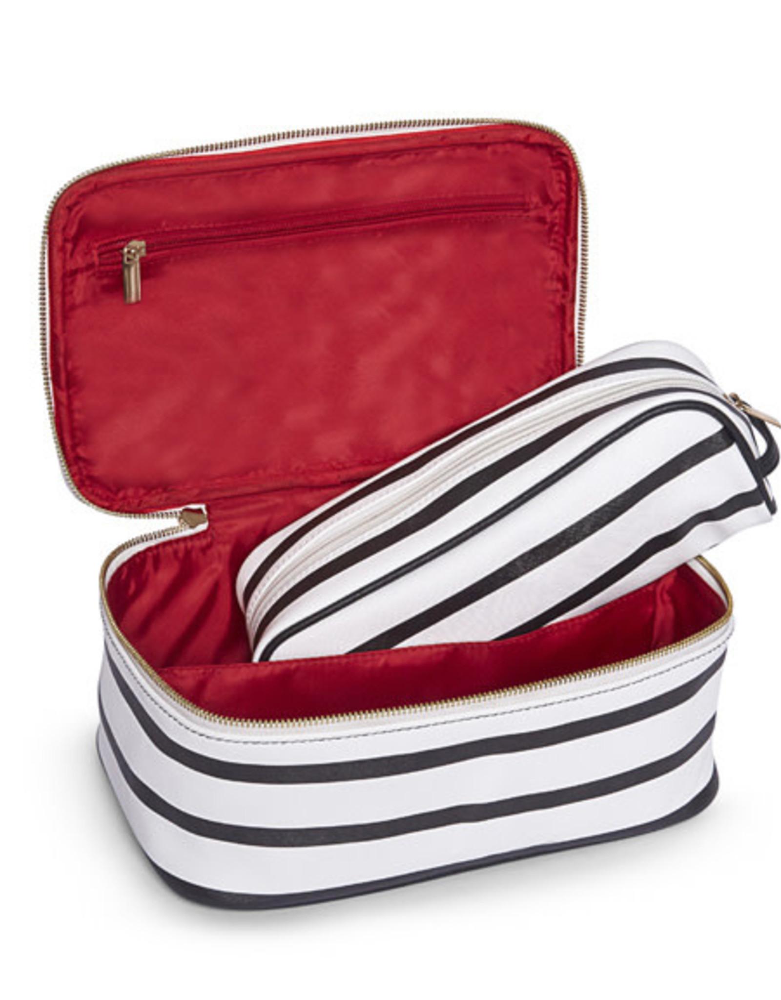 Brouk Striped Cosmetic Case