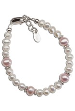 Cherished Moments Addie - Sterling Silver Pearl Bracelet (SM) 0-12 Months