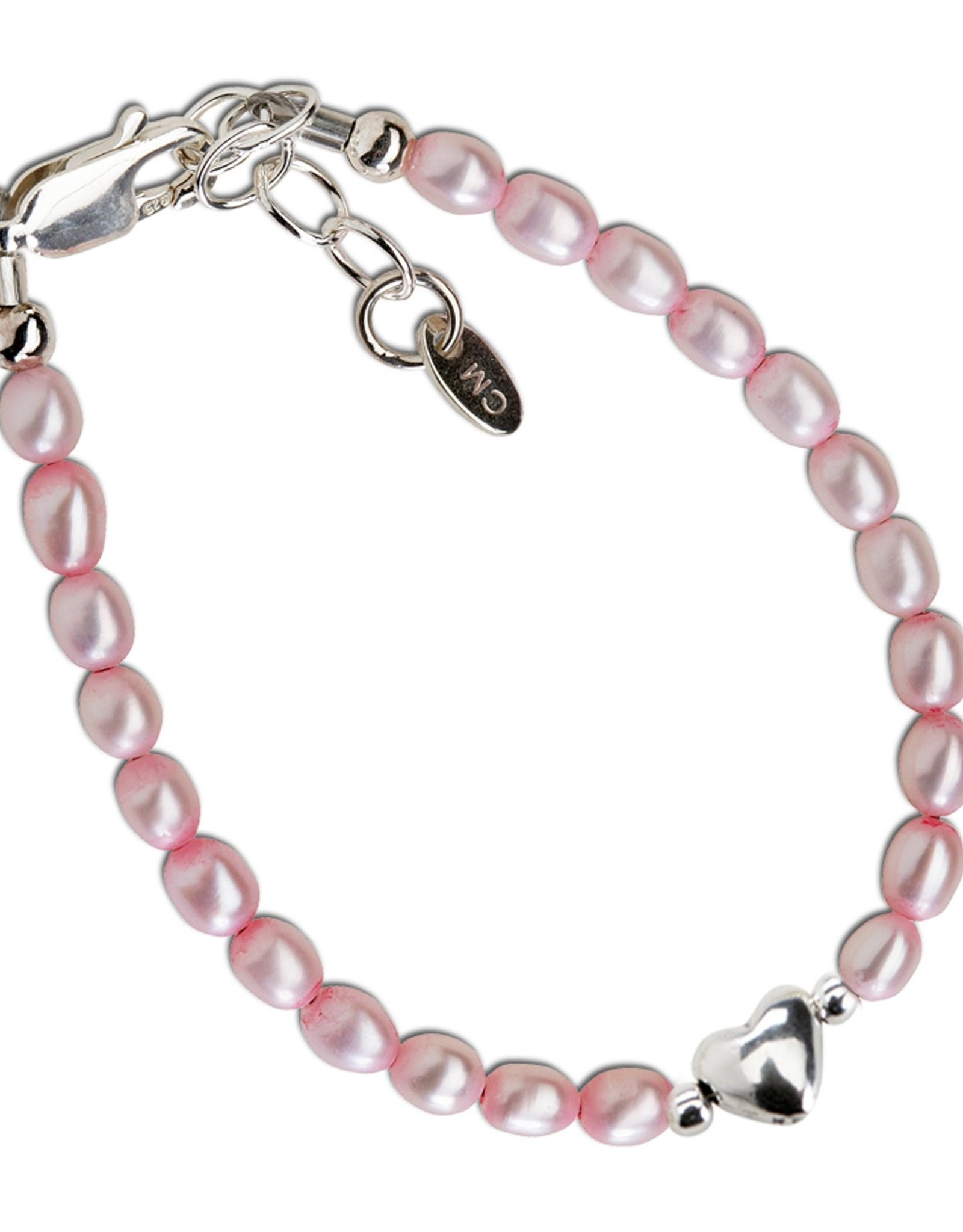 Cherished Moments Destiny Pink - Sterling Silver Pink Pearl Bracelet (SM) 0-12 Months