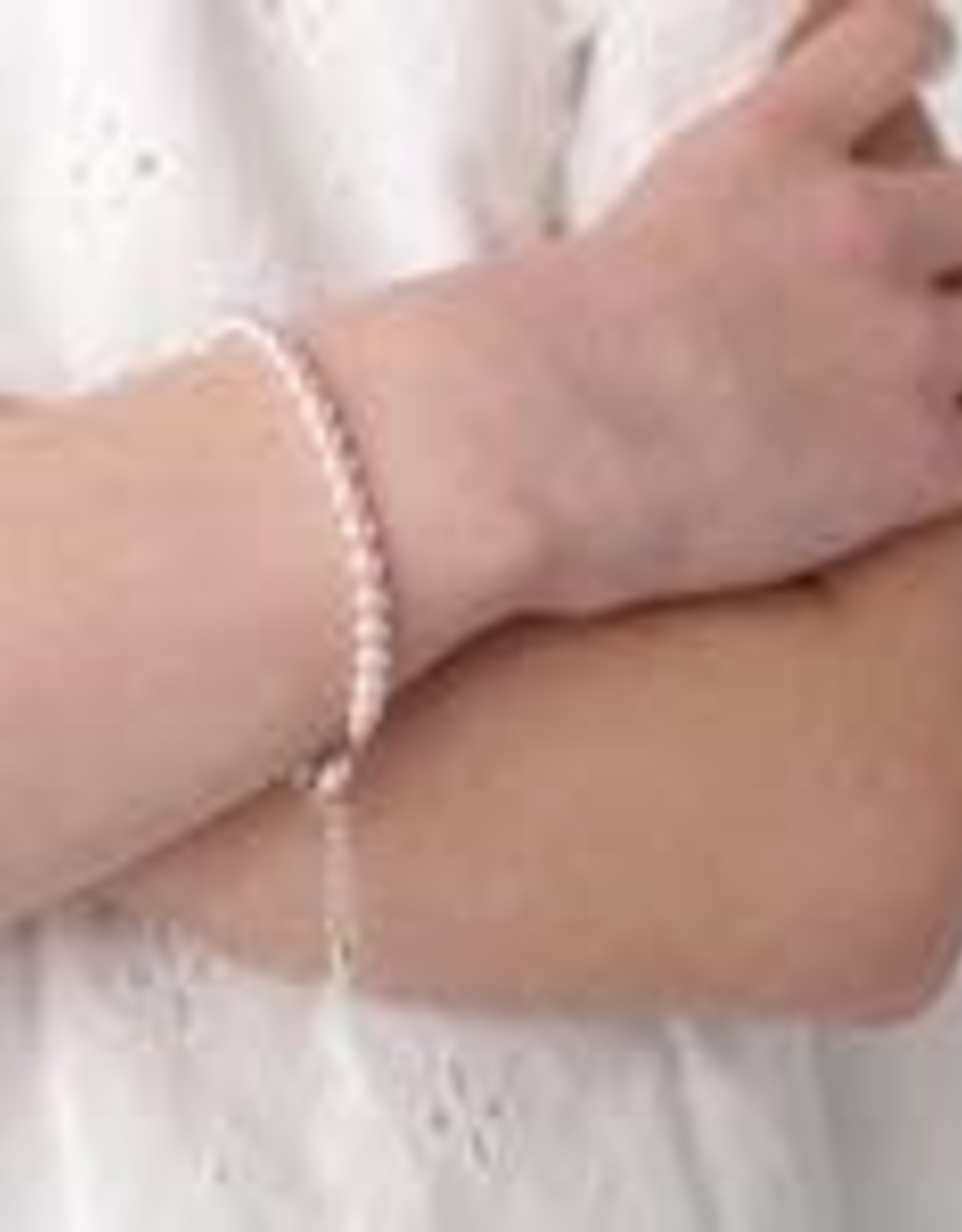Cherished Moments Jami - Sterling Silver Pink Pearl Bracelet (SM) 0-12 Months