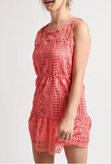 BB Dakota Sugar Coral Lace Dress