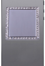iDecoz Square Tech Mirror- Silver/Clear Crystals
