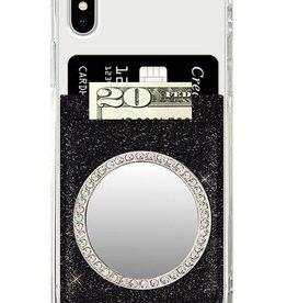 iDecoz Circle Tech Mirror - Silver/Clear Crystals