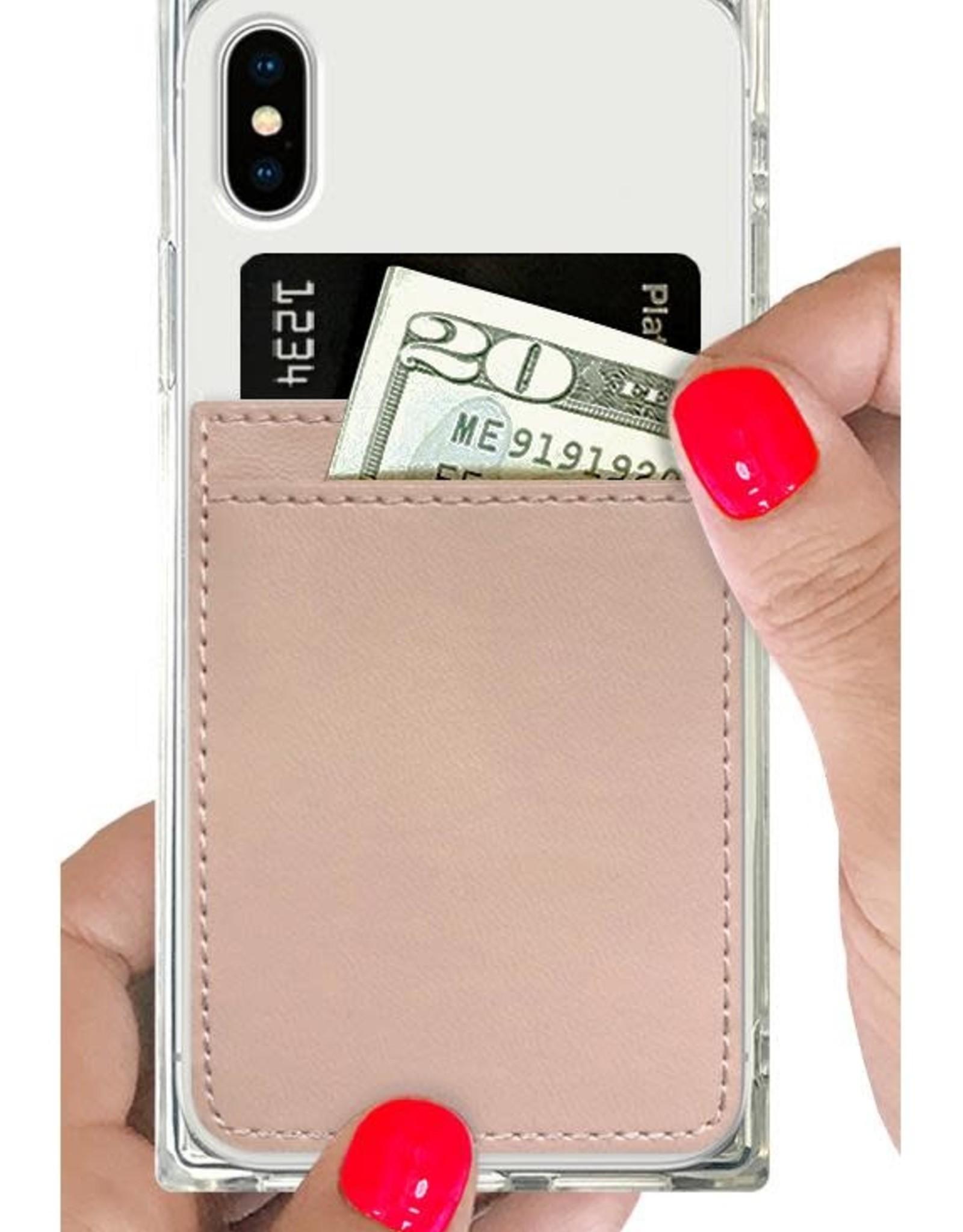 iDecoz Phone Pocket Faux Leather NUDE