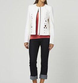 Luii Grommet Zip Jacket Off White