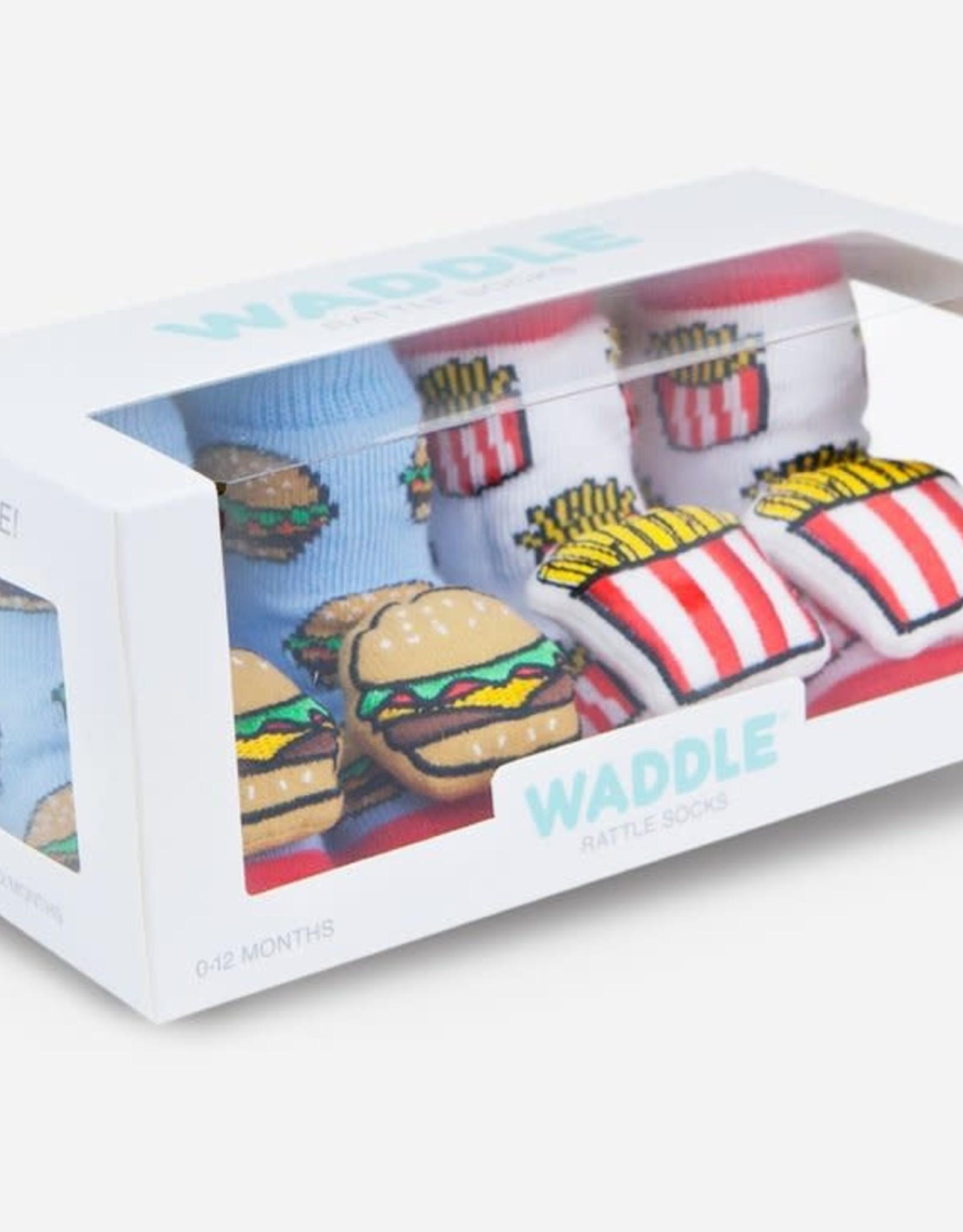Waddle Burger n Fries Rattle Socks