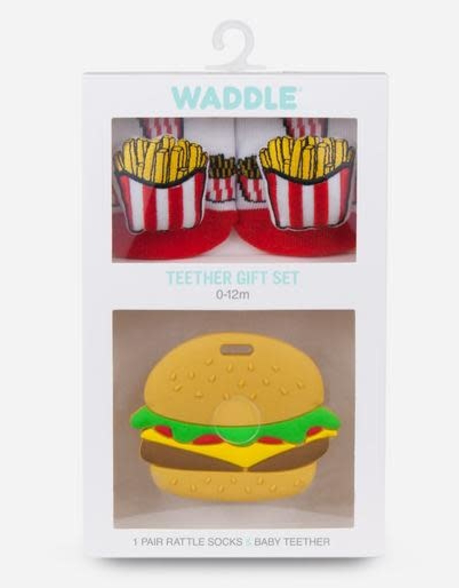 Waddle Burger/Fries Teether Gift Set