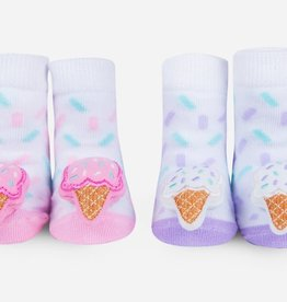 Waddle Ice Cream Rattle Socks