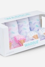 Waddle Ice Cream Rattle Socks