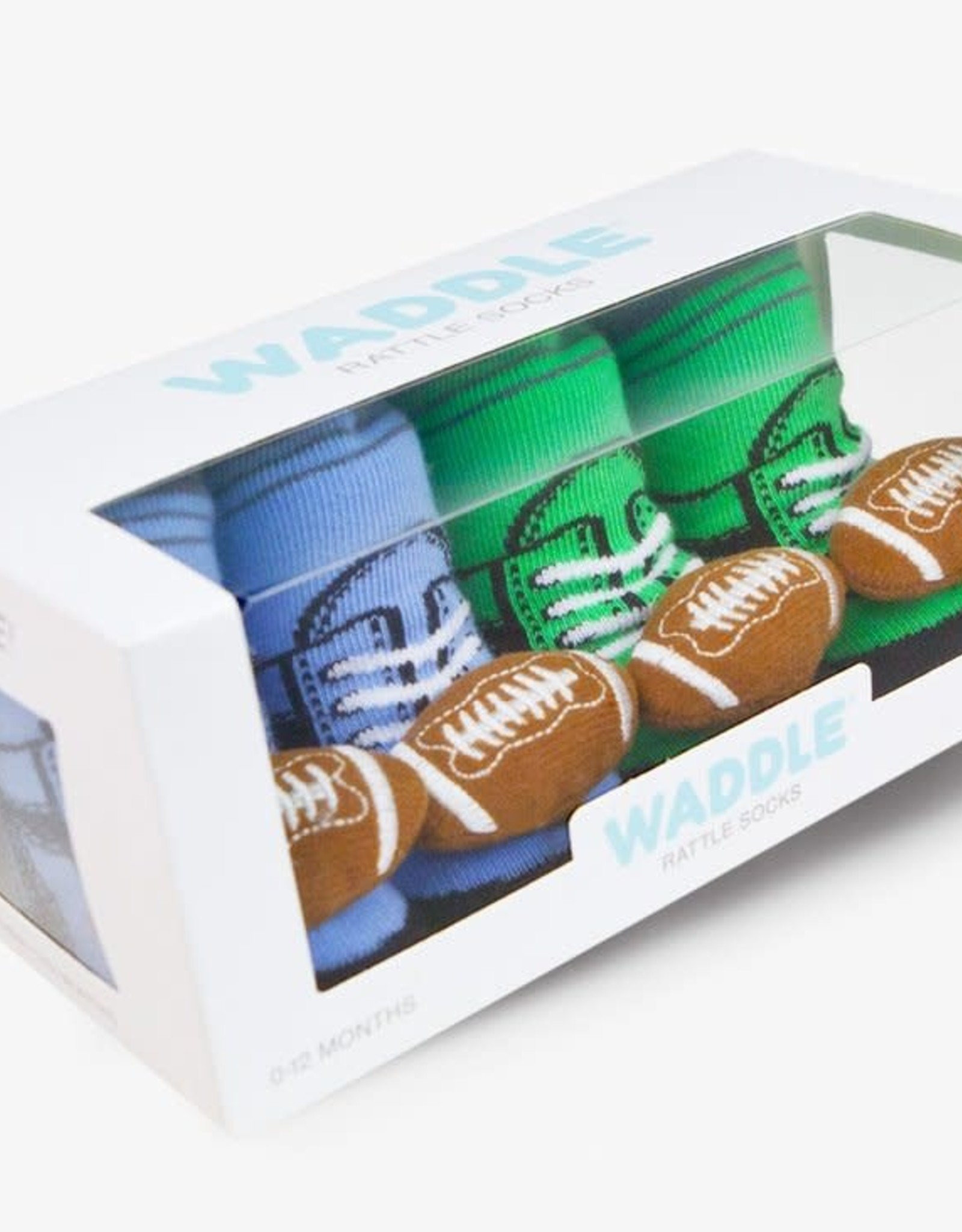 Waddle Football Rattle Socks