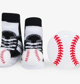 Waddle Baseball Teether Gift Set