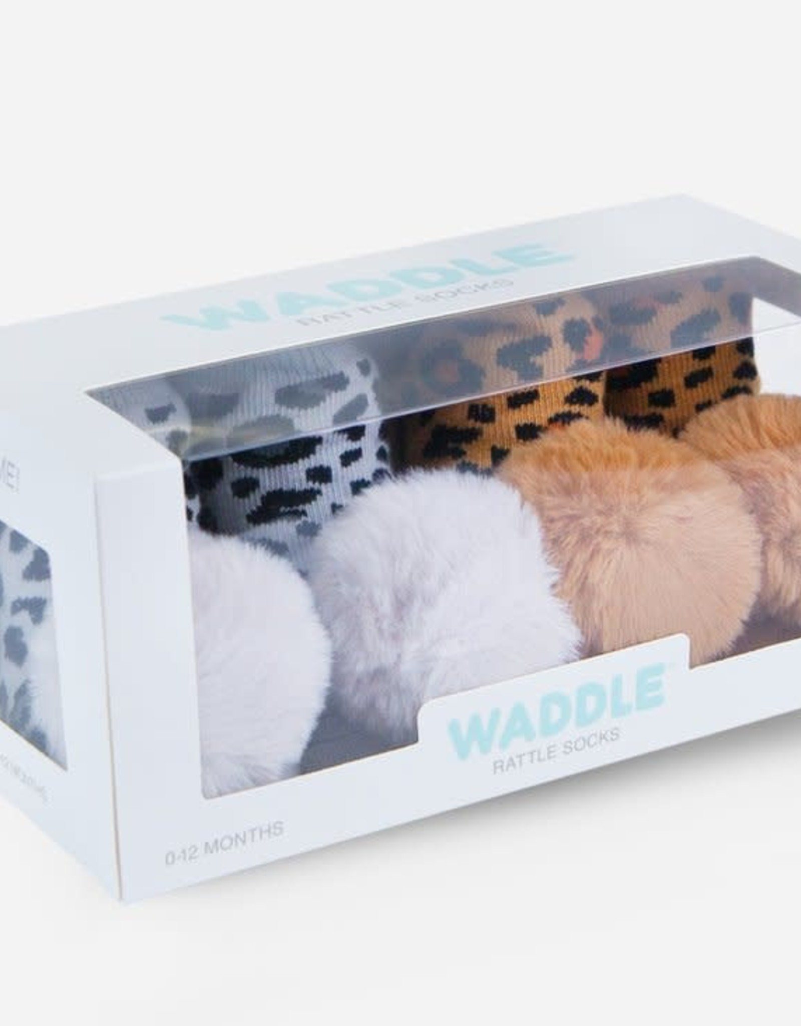 Waddle PomPom Rattle Socks Animal