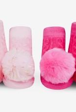 Waddle PomPom Lt Pink/Fuchsia Rattle Socks