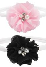 Elegant Baby Pink/Black Flower