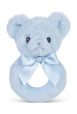 Bearington Huggie Bear Blue Rattle