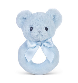 Bearington Huggie Bear Blue Rattle