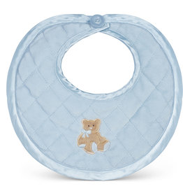 Bearington Huggie Bear Blue Bib