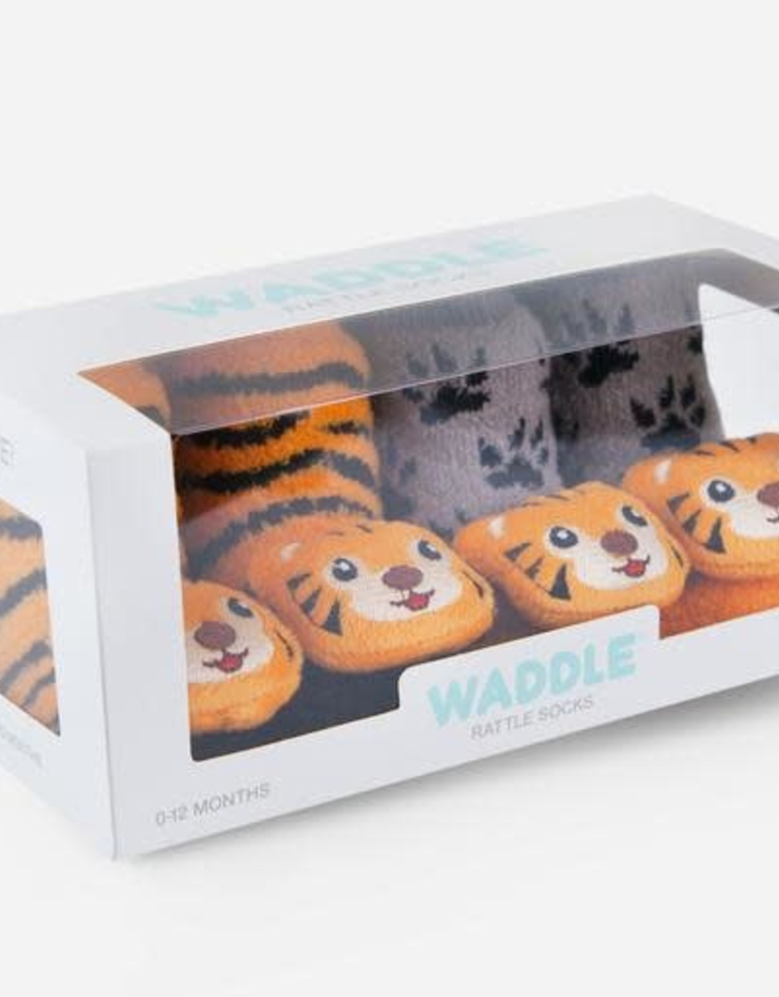 Waddle Tiger Rattle Socks
