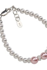 Cherished Moments Paige - Sterling Silver Pearl Bracelet (MED) 1-5 Years